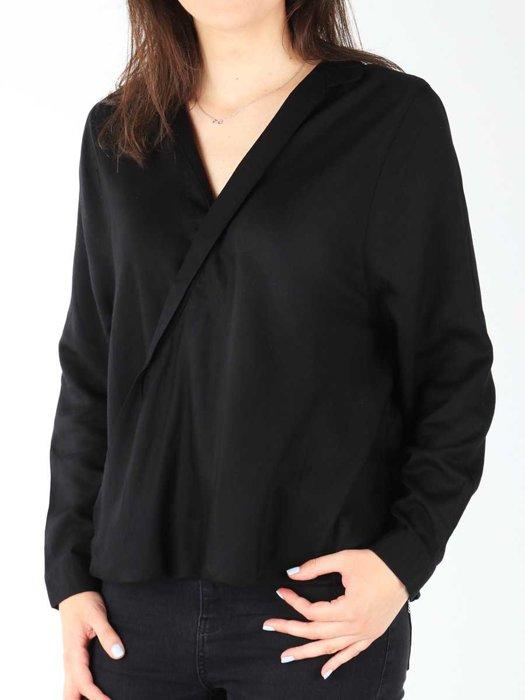 Wrangler L/S Wrap Shirt Black W5180BD01