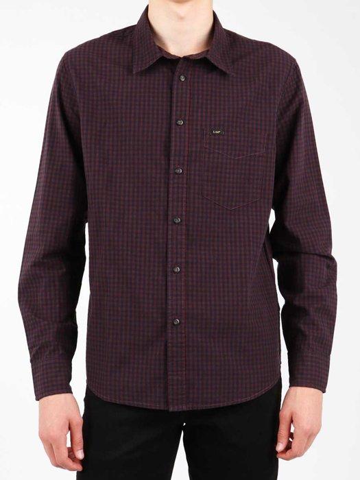 Herrenhemd Lee Shirt Plum L876CJRS