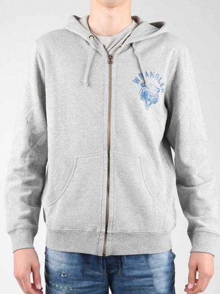 Bluza z kapturem Wrangler Hoodie Zip Sweat W6497JE37