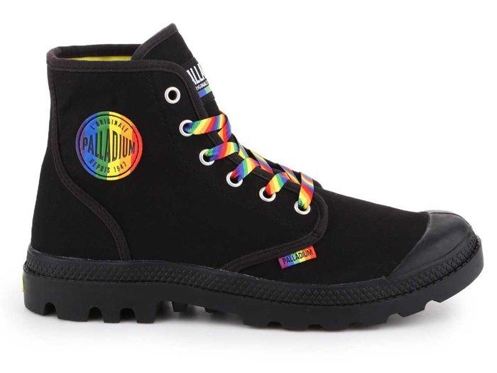 Buty lifestylowe Palladium Pampa Pride Black/Rainbow 76521-054-M